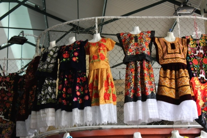 Dresses. Each indigenous group has different style of clothing. some are more colorful than others
