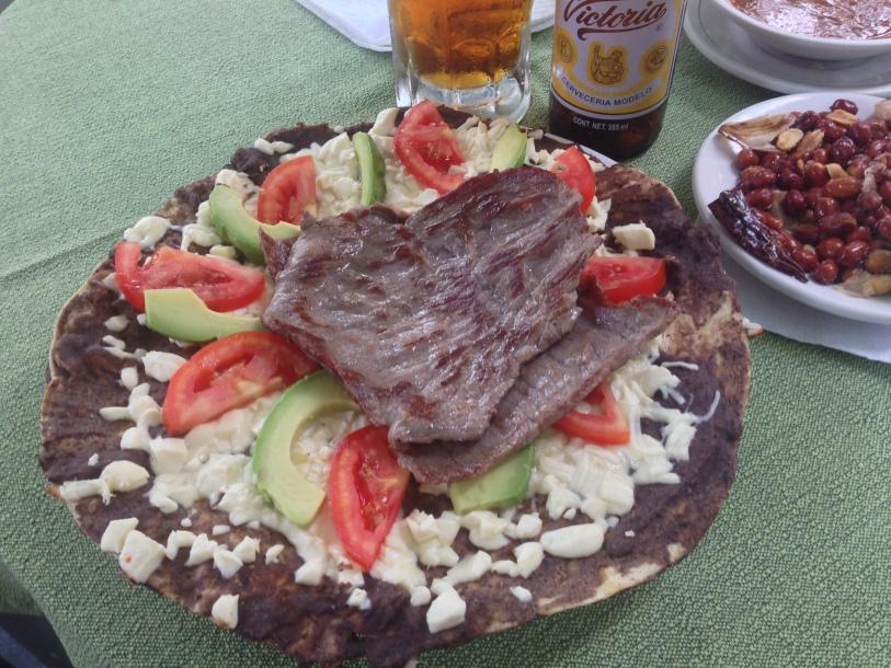 Tlayuda- Mexican pizza