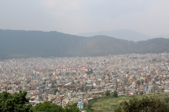 view of the city from the hill