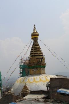 The stupa at Swayambunath