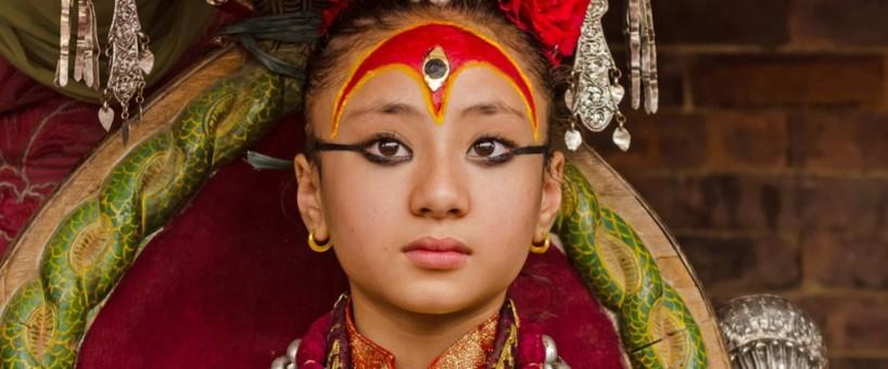 Kumari, Living Goddess. Photo from welcomenepal.com